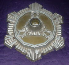 ART DECO  CEILING OR WALL  LIGHT FIXTURE  STARBURST  ACME LIGHTING  C. 1930