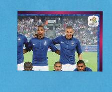 PANINI-EURO 2012-Figurina n.458- SQUADRA/TEAM 2/4 - FRANCIA -NEW-DARK BOARD