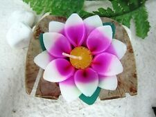 Large Lotus Pink Tea Light Floating Candle Scent Sakura Paraffin Wax Handmade.