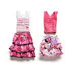 2 Pcs/set Skirt Short-sleeved T-shirt for Barbies Kids Doll Clothes Tutu DP