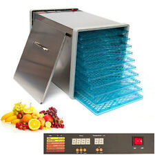 10 Tray Stainless Steel Food Fruit Dehydrator with Digital Timer