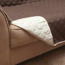 "Brown and Tan Machine Washable Reversible Loveseat Cover - Size: 88"" x 75.5"""