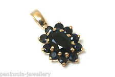 9ct Gold Sapphire Pendant no chain Gift Boxed Made in UK