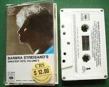 Import Barbra Streisand Greatest Hits II Cassette Tape - TESTED