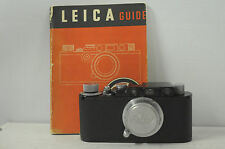 Leica II ( D ) Black Enamel with Elmar 50mm 3.5 Lens & Cap