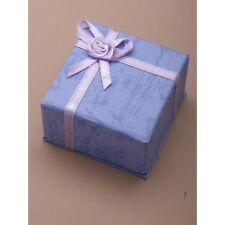 NEW Pastel lilac ribbon bow wedding ring box (not flat packed) 5x5x3.5cm