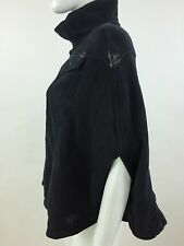 RPP 110£ Diesel Women's Fedusa Overcoat Kimono Color Black Size L 00BYF