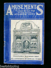 1937 Amusements Where to Go What to See Atlantic City New Jersey Booklet Map