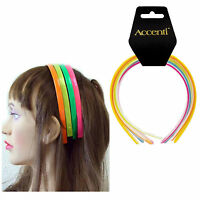 5 Pack Girls Plastic Neon Alice Hair Bands ,Headbands Hairbands