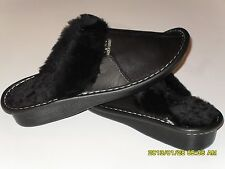 Genuine Lambskin Sheepskin Shearling Leather Slippers Women US 9.5-10, EU 41 NWT