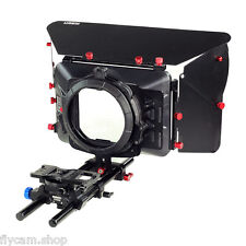 Filmcity Mattebox sunshade with DSLR Cheese plate rod support for Camera Shoot