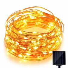 Solar Light 60 Pc Yellow LED Festival Copper String Light Diwali Home Decoration