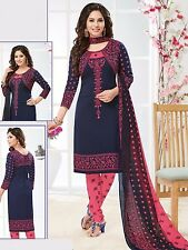 Elegant Crepe Designer Printed Unstitched Dress Material Suit D.No RR9070