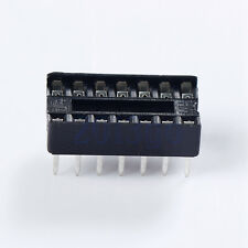 10Pcs 14Pin Dip-14 Ic Socket Solder Type De Double In-Line Integrated Circuit HG