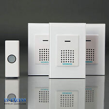 Siemens Triple Pack 2x Portable 1x Plug-in Door Chime Wireless Bell Push DCWF4/7