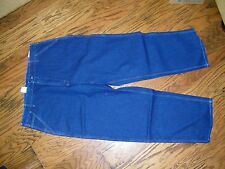 "Carhartt Washed Denim Work Dungaree Blue JEans 19"" Leg Opening Size 46 x 32"