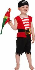 Toddler Boys Pirate Fancy Dress Up Party Costume Age 3 approxWorld Book Day NEW
