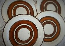 4 Vintage Midwinter Stonehenge EARTH Bread Butter Plates Stoneware Made England