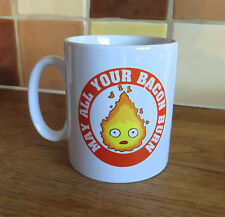 Howl's Moving Castle Anime Calcifer inspirado Taza 10oz