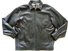 Ralph Lauren Polo Dark Brown Genuine Leather Relaxed Fit Jacket size XL