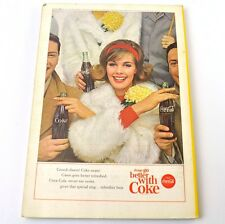 Coca-Cola Coke Afficher USA complet Cahier National Geographic Magazine 10/1963