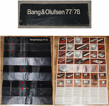 Beng & Olufsen 77/78 lot 2 folletos + 3 mapas de carreteras beocord beomaster beogram