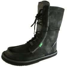 NEW Sanuk Stevie Black Lace Up Sidewalk Surfer Yoga Sole Boots Womens Size: 6