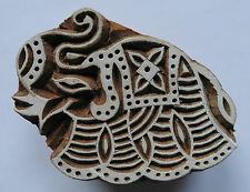 Elephant Shaped 6.5cm Indian Hand Carved Wooden Printing Block (EL33)