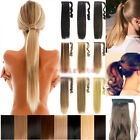 NEW WRAP-AROUND PONYTAIL Hair Extensions Real Long Piece Clip In Synthetic human
