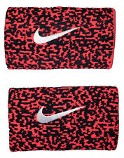 New Nike Nadal Doublewide Wristband Black/Hyper Punch (Pink) NNNB9061OS Tennis