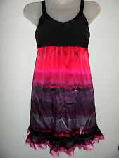 bebe XS Bright Dress Silk Black Colorful Summer Vegas Graduation Wedding Party