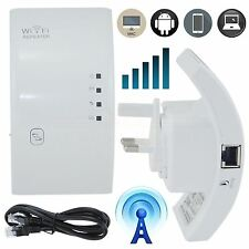 300mbps Wireless N 802.11 Ap Repetidor Wifi Rango Router Extensor Booster Uk Plug