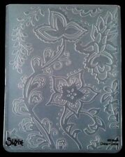 Sizzix Large Embossing Folder FAR OUT FLORAL VINES  fits Cuttlebug & Wizard