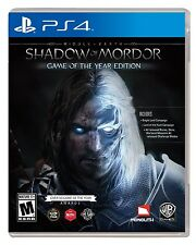 Middle Earth: Shadow Of Mordor Game Of The Year Edition [PlayStation 4 PS4] NEW