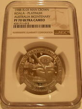 Isle of Man 1988 Platinum 1/2 Oz 1/2 Crown NGC PF-70UC Koala