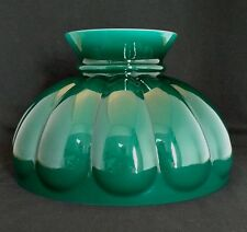 ALADDIN LAMP GREEN MELON SHADE PART # M570 CASED GLASS 10 inch FITTER New in box