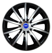 4x15 Wheel trims Wheel covers fit Fiat Doblo with 15'' wheels black - silver