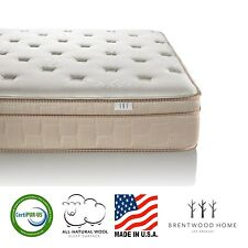 Brentwood Home Finale 11-Inch Eurotop Innerspring Mattress CertiPUR-US Made i...