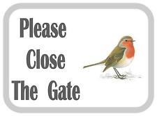 Si prega di chiudere il cancello Robin Design in Metallo Porta Firmare