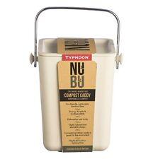 Typhoon NUBU Stackable COMPOST CADDY Kitchen Bin BAMBOO FIBRE Cream