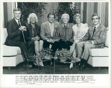 Over Easy TV Mary Martin w Son L Hagman Daughter H Halliday Press Photo
