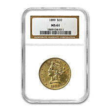 $10 Liberty Gold Eagle Coin - Random Year - MS-61 NGC - SKU #23197