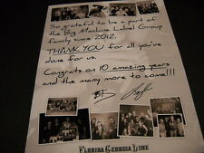 FLORIDA GEORGIA LINE Thank You for all you've done... 2015 collage PROMO AD mint