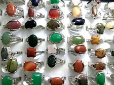 wholesale 100 Women nature stone Alloy Rings fashion Jewelry lots