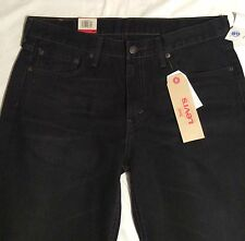 Men 33 X 30 GENUINE LEVI'S 514 Bullock BLACK JEANS Regular STRAIGHT FIT 0701 NWT