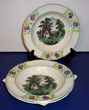 "LOT OF 3 COPELAND SPODE RIMMED SOUP DISH 7.5""  # 7311 COTTAGE IN THE COUNTRYSIDE"