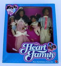 1985 Heart Family Mom Dad & Babies Deluxe Set African American Dolls #2052 RARE