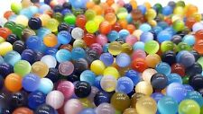 100 pieces 6mm Cat's Eye Round Beads - Assorted Mixed - A3813