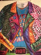 Faux Real Vintage 80s Rad Hip Hop Colorful Funny Novelty Long Sleeve T Shirt Xl