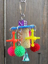 The Hedge Balls vs Jacks Parrot Bird Chew Toy Colorful Play Fun Bells Pet Spikey